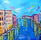 Obrazy - Benátky (Venezia) olejomaľba - 10447713_