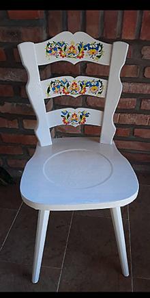 Iné doplnky - ručne maľovaná stolička - 10447788_