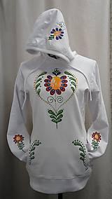 Mikiny - Mikina Kvietok ručne maľovaná - 10446130_