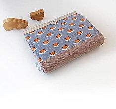 Peňaženky - Peňaženka s priehradkami Malé líštičky - 10445527_