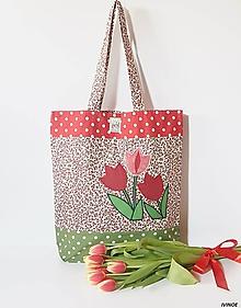 Nákupné tašky - Nákupná taška - tulipány - 10446836_