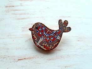 Odznaky/Brošne - brošňa vtáča folk 1 - 10445575_