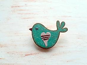 Odznaky/Brošne - brošňa jarné vtáča 1 - 10445579_