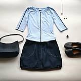 Topy - Tenká šedá linie (pudre blue) - 10448765_