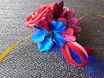 Dekorácie - Mašlička na svadobné auto - 10446122_
