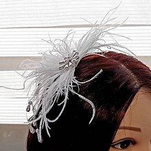 Ozdoby do vlasov - Svadobný fascinátor - 10447315_