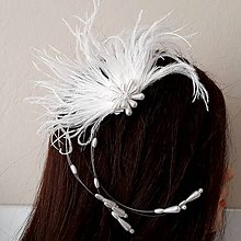 Ozdoby do vlasov - Svadobný fascinátor - 10447346_
