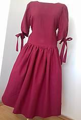 Šaty - Ľanové šaty - 10446371_