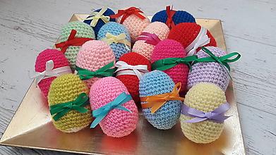 Dekorácie - vajíčka- pestré-jednofarebné - 10448206_