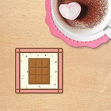Dekorácie - Stracciatella potlač na koláčik - 10445450_