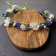 Ozdoby do vlasov - Spring Folklor Blue New ... věnec - 10450691_