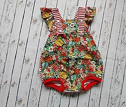 Detské oblečenie - Summer flowers romper - 10448997_