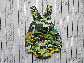 Detské oblečenie - Summer dino romper - 10449092_