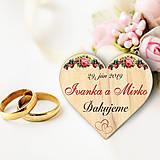 Darčeky pre svadobčanov - Svadobná magnetka - 10450473_