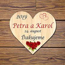 Darčeky pre svadobčanov - Svadobná magnetka - 10450586_