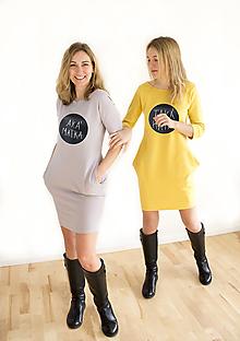 Šaty - Dámske tabuľové šaty  žlté - aká matka taká Katka MD4 - 10449727_