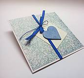 Papiernictvo - Pohľadnica ... v modrom - 10451634_