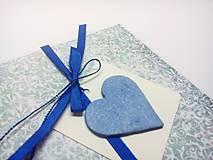 Papiernictvo - Pohľadnica ... v modrom - 10451636_