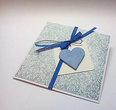 Papiernictvo - Pohľadnica ... v modrom - 10451632_