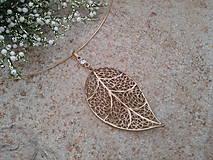 Náhrdelníky - Zlatý list - 10450666_