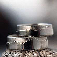 Prstene - Láska hory prenáša ... /verzia v zlate/ (Obrúčky bez reliéfu - elegantné/čisté) - 10452021_
