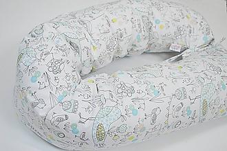 Textil - Tehotenský vankúš / Vankúš na dojčenie Birds dĺžka 200cm + náhradná obliečka - 10449077_
