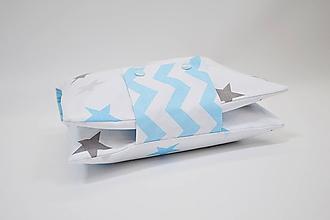 ab66a4f82 Detské doplnky - Organizér na plienky bielo-modré hviezdy - 10450113_