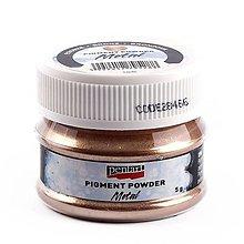 Farby-laky - Pigmentový prášok 5 g, metalický, bronzový - 10449733_