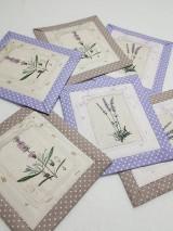 Úžitkový textil - Podšálky  levandula, cena za 1ks - 10451591_