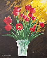 Obrazy - Večerné zátišie s kvetmi - 10448869_