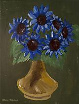 Obrazy - Modré kvety - 10448870_