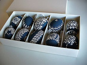 Dekorácie - kraslice bielo-modré - 10449480_