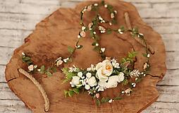 Ozdoby do vlasov - Svadobný polvenček - 10451150_