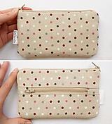 Peňaženky - Peňaženka - Guličky na režnej - 10450363_