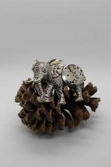 Odznaky/Brošne - Brož slon s torzem hodinového strojku - 10452209_