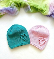 Detské čiapky - Čiapka (Tyrkysová) - 10450880_