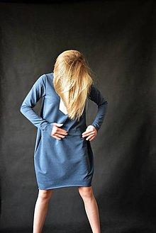 Šaty - Teplákové oversize šaty/tunika Rynn - 10450026_