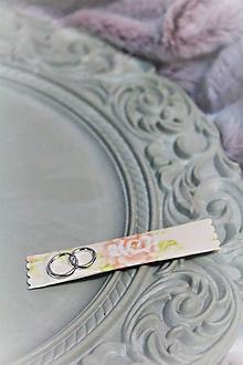 """Darčeky pre svadobčanov - Svadobná žuvačka pre hostí """"jemná marhuľková"""" - 10449278_"""