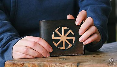 Tašky - Kožená peňaženka VI. Kolovrat - 10449197_
