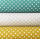 - bodky, 100 % bavlna Francúzsko, šírka 140 cm (Šedá) - 10450219_