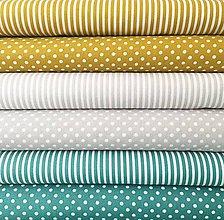 Textil - úzke pásiky, 100 % bavlna Francúzsko, šírka 140 cm (Šedá) - 10450206_