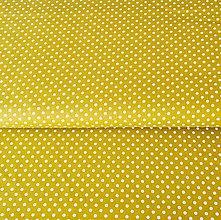 Textil - bodky, 100 % bavlna Francúzsko, šírka 140 cm (Žltá) - 10450214_