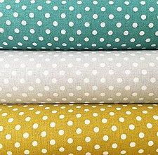 Textil - bodky, 100 % bavlna Francúzsko, šírka 140 cm (Žltá) - 10450216_