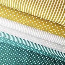 Textil - bodky, 100 % bavlna Francúzsko, šírka 140 cm (Žltá) - 10450825_