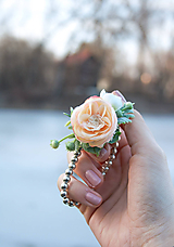 Náramky - Kvetinové náramky - 10448863_