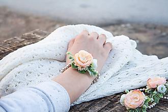 Náramky - Kvetinové náramky - 10448864_