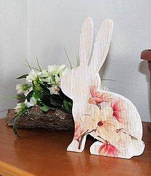 """Dekorácie - veľkonočný zajko """"romantický"""" II - 10450327_"""