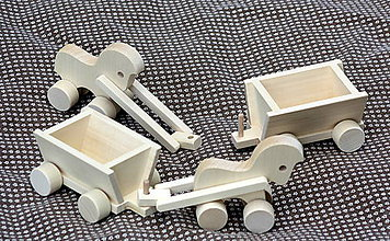 Hračky - Drevené hračky. Koník s vozíkom - 10451084_