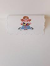 Vyšívané prestieranie - richelieu - pestrofarebné, 58 x 28 cm
