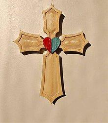 Dekorácie - Drevený kríž - Darovaný - 10450726_